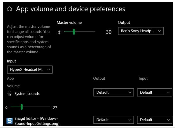 تنظیمات صدا Windows را بررسی کنید