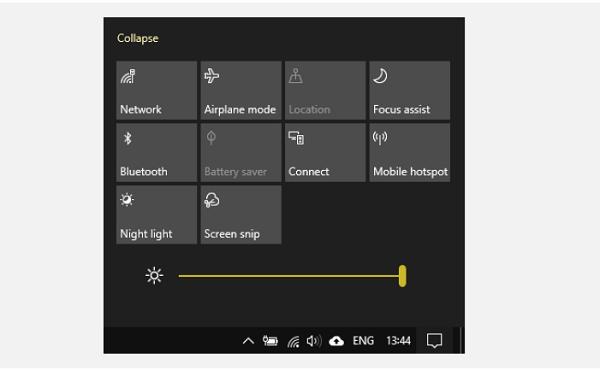 میزان روشنایی صفحه نمایش