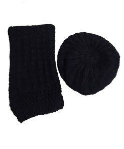 کلاه و شال فرانسوی مشکی