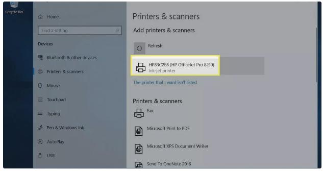 مراحل اتصال چاپگر بی سیم به لپ تاپ گام 4