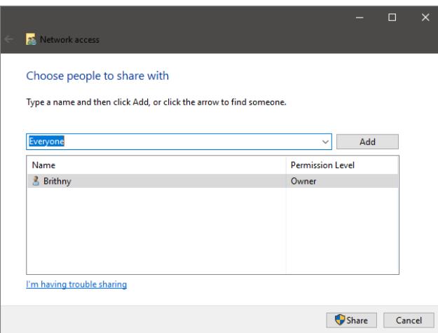مراحل انتقال فایل ها بین دو لپ تاپ با پوشه مشترک