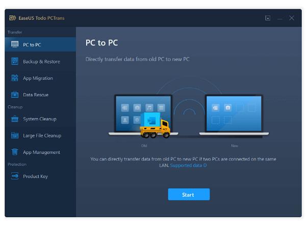 مراحل انتقال فایل ها بین دو لپ تاپ با استفاده از نرم افزار انتقال فایل