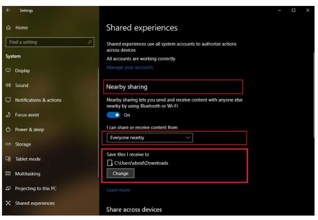 انتقال فایل ها بین دو لپ تاپ با استفاده از Nearby Sharing در ویندوز 10