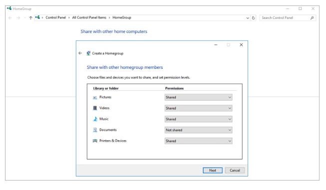 انتقال داده ها بین دو لپ تاپ از طریق HomeGroup