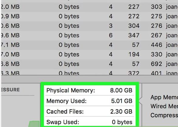 گام پنجم میزان حافظه RAM و RAM باقیمانده را مرور کنید