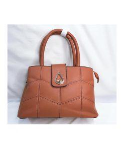 کیف چرم زنانه اصل کد 121 قهوه ای