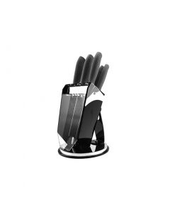 سری چاقو ۸ پارچه سرامیکی مشکی عرشیا مدل K259-2107